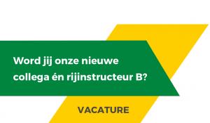Vacature rijinstructeur B